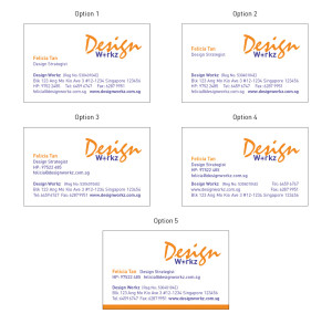 DW Business Card Layout